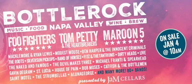 BottleRock Napa Announces Foo Fighters, Maroon 5 and Tom Petty for 2017 Lineup