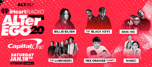 2020 Iheartradio Music Festival Lineup.Billie Eilish To Headline Alter Ego 2020 Front Row Live